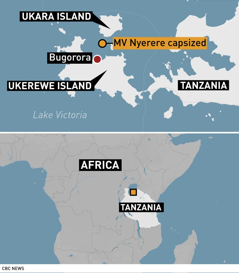Map Of Africa Lake Victoria.Death Toll Tops 130 In Tanzania Ferry Disaster Police Say Cbc News