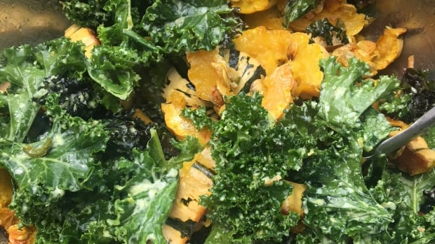 Learn to make farm-fresh BBQ squash and kale salad
