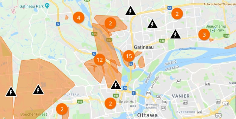 Ontario Hydro Power Outage Map.Here S Where Power Is Out Across The Region Cbc News