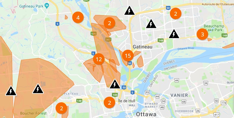 Here S Where Power Is Out Across The Region Cbc News