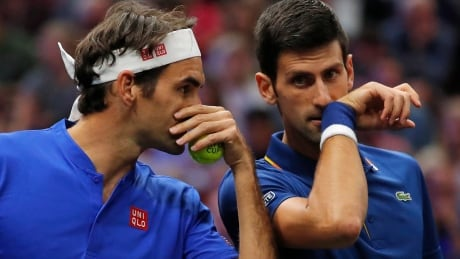Federer, Djokovic pair up for 1st time, lose doubles match at Laver Cup thumbnail