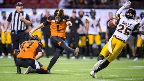 Ty Long kicks winning field goal, Lions come back to beat Ticats in OT