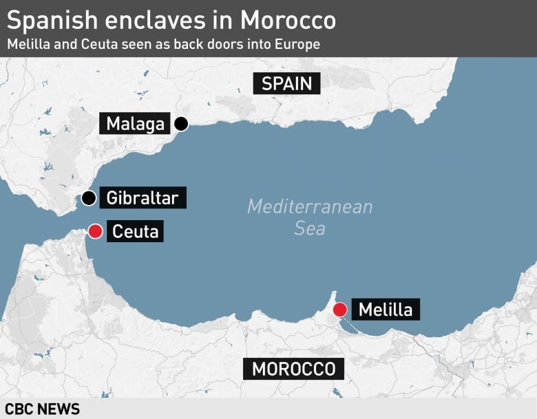Map Of Spain And Europe.Spain Built Fences 20 Years Ago To Keep Migrants Away Here S How