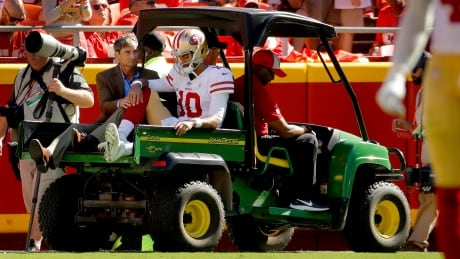 49ers QB Jimmy Garoppolo done for season with torn ACL