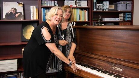 Susan and Heather, Glenn Gould piano