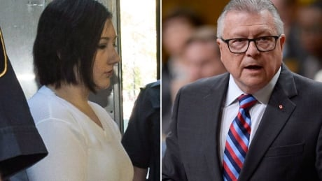Terri-Lynne McClintic and Public Safety Minister Ralph Goodale