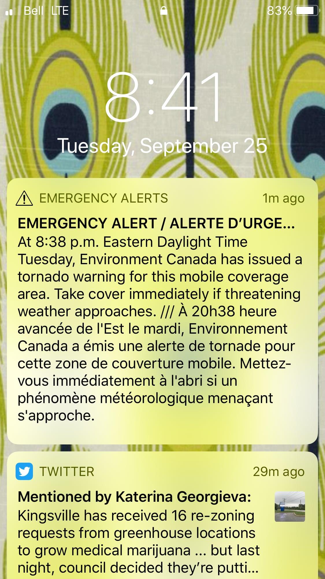 Tornado alert, fire alarm causes confusion at Windsor Walmart