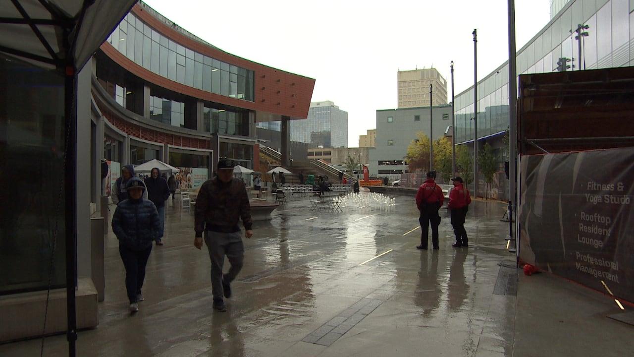 eb9c2f28 Soaked celebration: Plaza at True North Square opens to public under ...