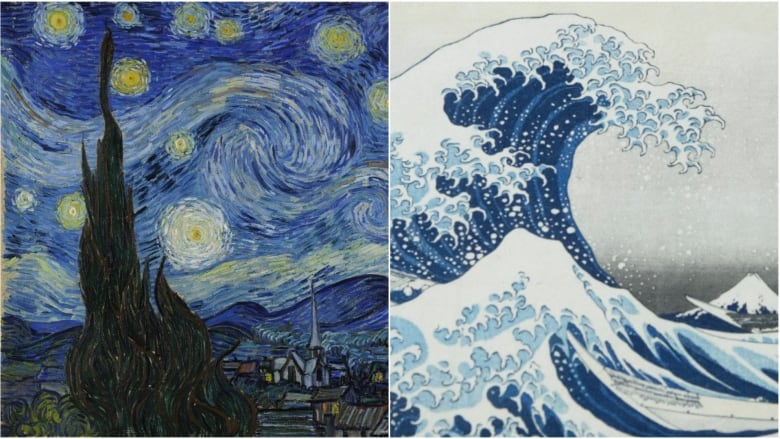 was van gogh s the starry night inspired by hokusai s the great wave