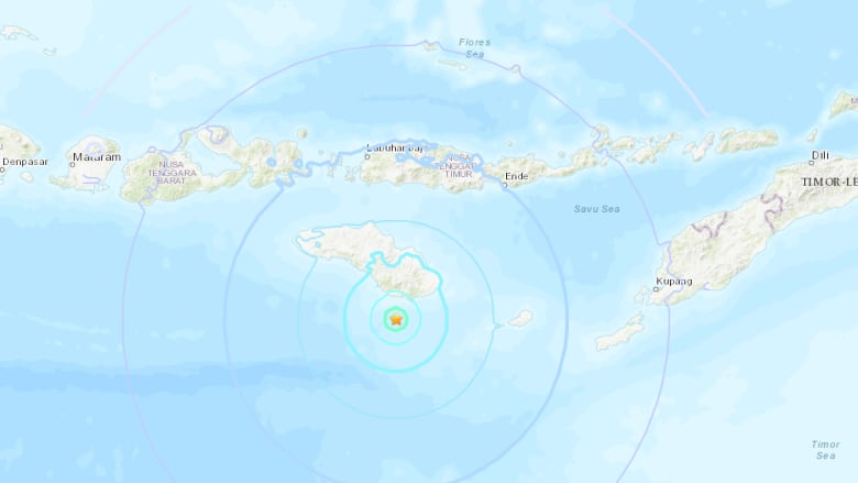 Twin quakes hit off Indonesian island of Sumba