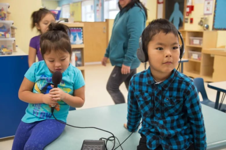 Language In 45 And 47 Stella Street: Kids Listen To Each Other Count In The Tlingit Language As