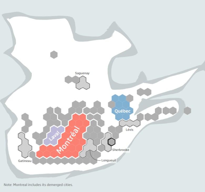 8 Maps That Explain Quebec S Surprise Election Results Cbc News