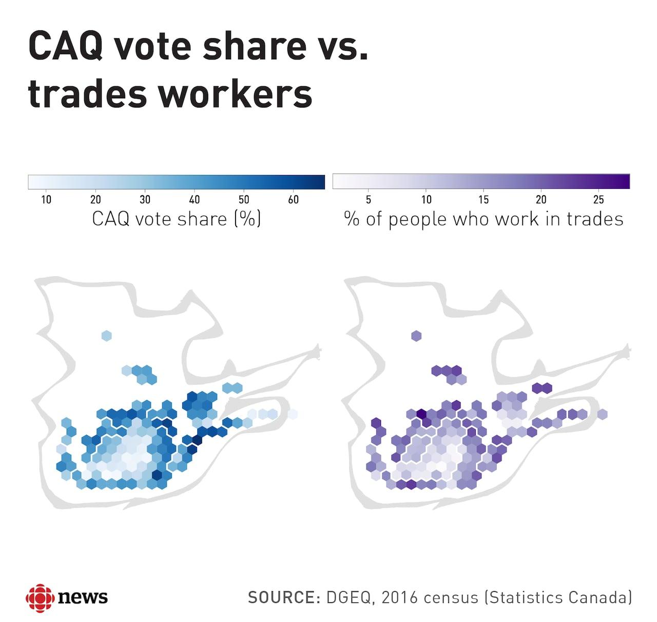 8 maps that explain Quebec\'s surprise election results | CBC News