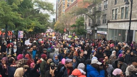 'Legault has got to go': Thousands in Montreal march to protest racism, incoming premier thumbnail