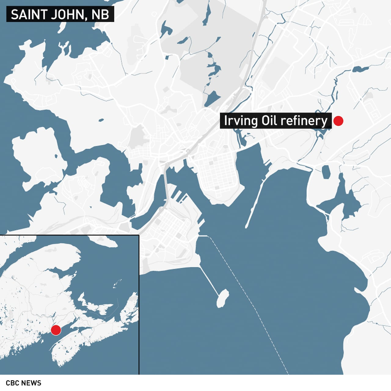 Following Saint John Oil Refinery Blast And Fire Irving Oil To - Us-oil-refineries-map