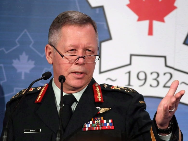 Chief of the Defence Staff Gen. Jonathan Vance has promised a zero-tolerance approach to sexual misconduct in the ranks. (Fred Chartrand/Canadian Press)