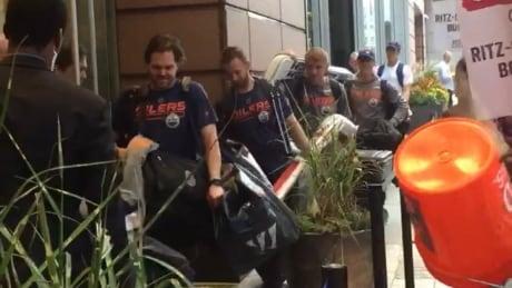 Oilers in Boston
