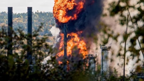 Irving Oil refinery explosion and fire