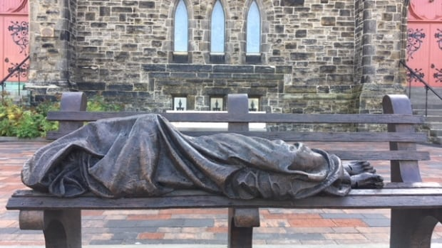 'Homeless Jesus' statue inspires double takes and compassion in Ottawa | CBC News