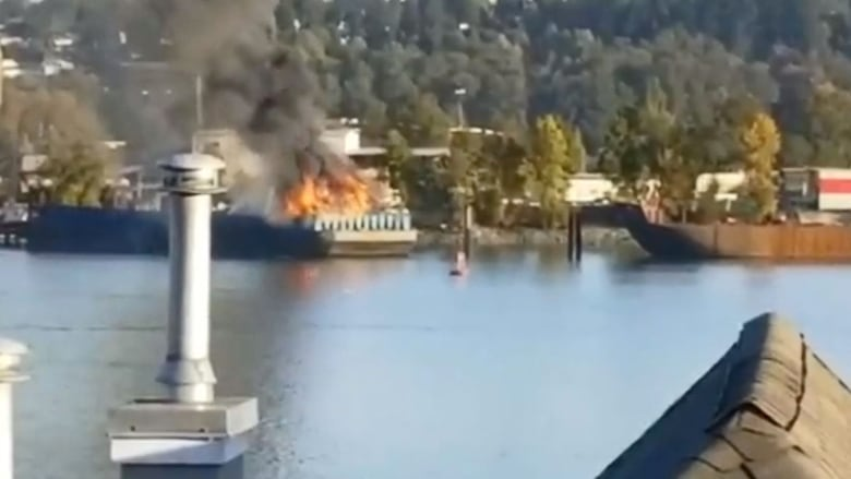 Company Cant Explain Nd Barge Fire In Months CBC News - Schnitzer scrap yard