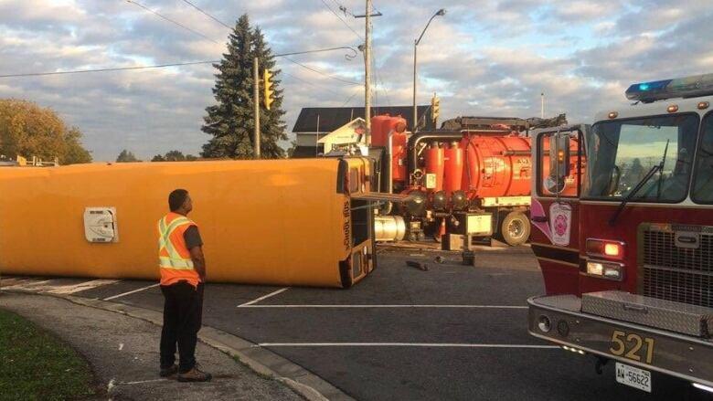 No children injured in school bus crash with truck in