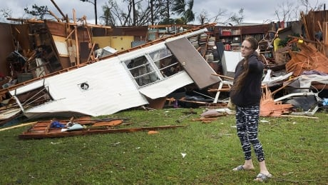 Hurricane Michael destroyed trailer homes Florida