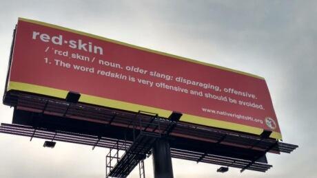 Redskin billboard
