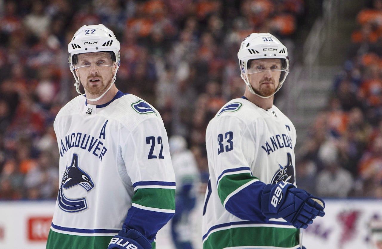 wholesale dealer 5e767 1969e Sedins' Nos. 22, 33 will join twins in retirement next ...