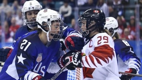 Hilary Knight and Marie-Philip Poulin