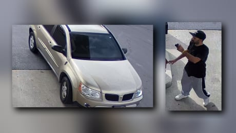 Surveillance images capture Comber gas theft in stolen vehicle
