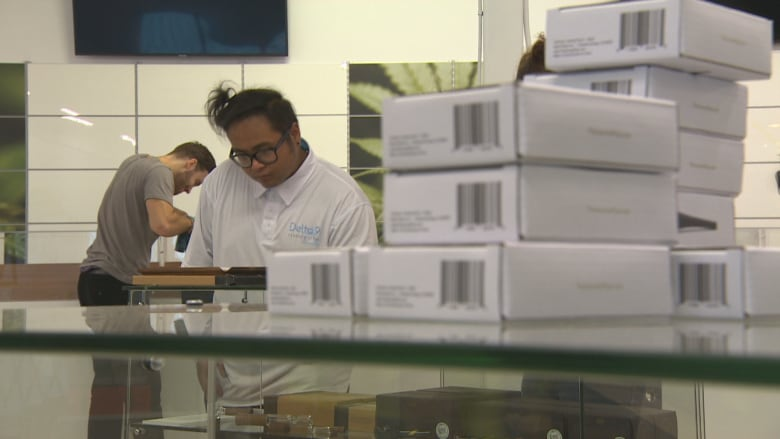 Staff At Delta 9's St. Vital Cannabis Store Prepare On