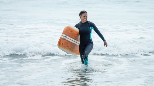 There are few black surfers in Nova Scotia. This actress wants to change that