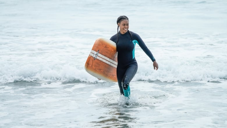 There are few black surfers in Nova Scotia  This actress