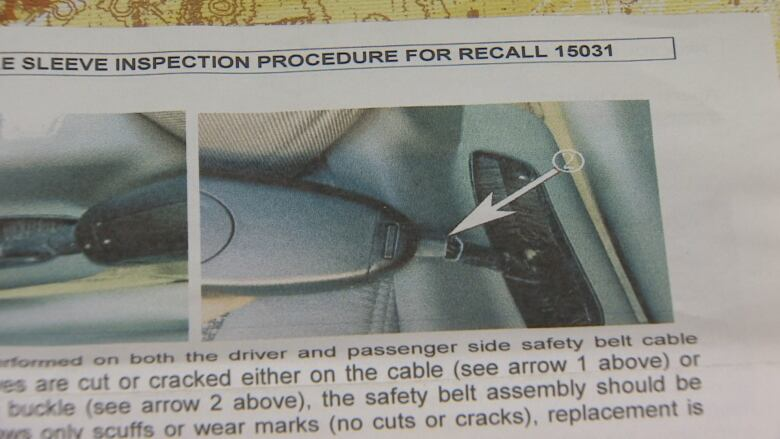It just came up in my hand': Seatbelt installed after recall fails