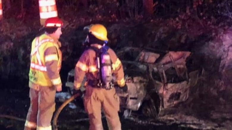 2 injured in fiery crash near Gatineau Park