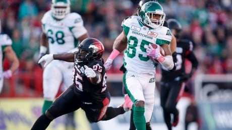 Roughriders rebound with win over Stampeders   CBC