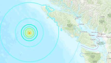 6.6-magnitude quake strikes off B.C. coast, but no reports of damage