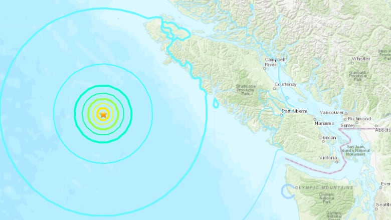 Four earthquakes strike off Canada's west coast