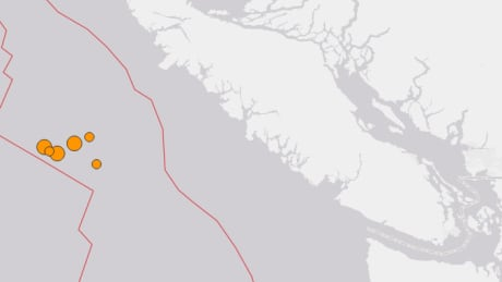 several earthquakes strike off vancouver island with no reports of damage