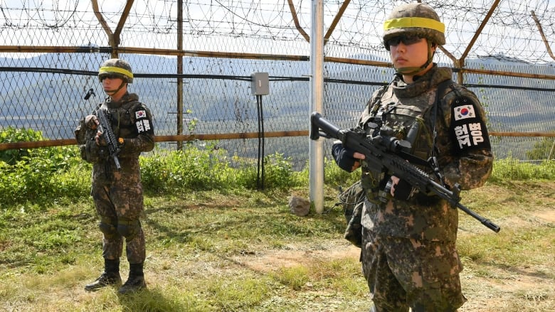 Koreas finish removing land mines from border village