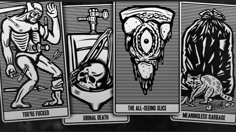 The Future Is Bullshit These Satirical Tarot Cards Poke Fun At