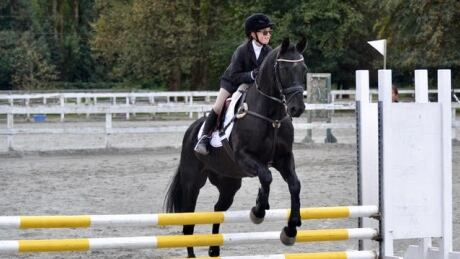 Meet the 9-year-old legally blind athlete who is happiest on horseback