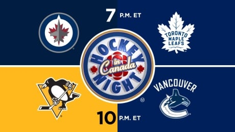 HNIC - WPG at TOR - PIT at VAN - Jets at Maple Leafs - Penguins at Canucks