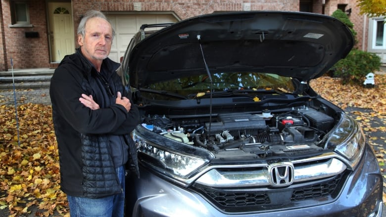 Meals on wheels: Hungry squirrels go nuts over this man's Honda