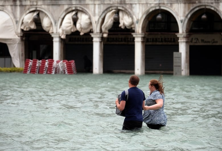 Most of Venice under water due to exceptionally high tides italy weather