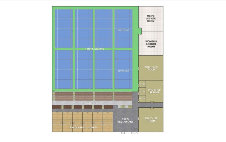 Group pushing 12m moncton area racquet sports centre for Racquetball court construction cost
