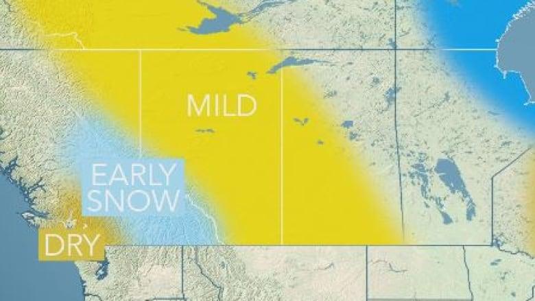 Winter forecast: mild in Edmonton, short ski season in mountains