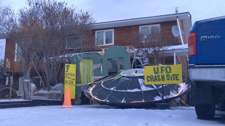 A UFO crash in Whitehorse? No, just someone's amazing ...