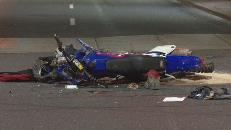 кроссовый мотоцикл авария