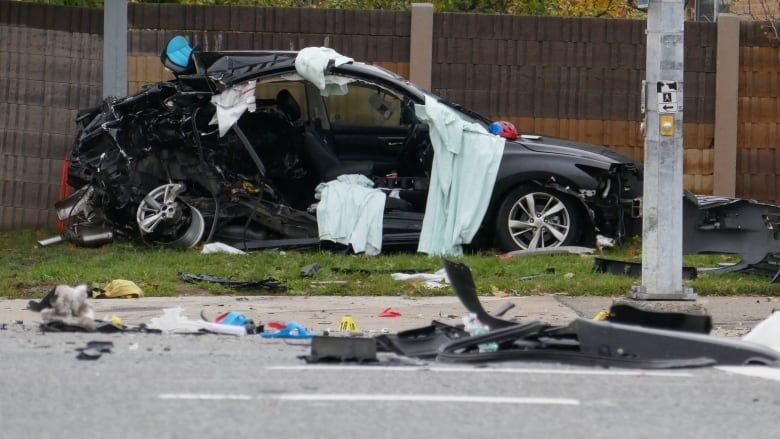 Mother, 2-year-old boy killed in fiery Mississauga crash